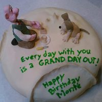Wallace & Gromit: A Grand Day Out   Cake to celebrate hubby's undying love for cheese and stop motion animation.