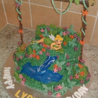 Tinkerbell Forest Cake