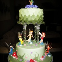 Have A Fairy Happy Birthday! Just finished a Disney Fairy-themed cake I made for my nieces birthday tomorrow! Last year I made her a Disney Princess-themed castle cake...