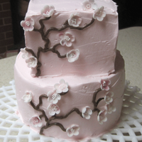 "Cherry Blossoms  Well, had a few glasses of wine, was feelin' pretty good, so I thought ""Let's make a cake!"" This is what happens when I..."