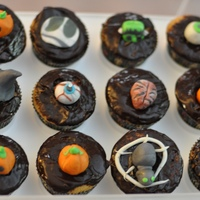 Halloween Cupcakes  Did these today for my brother's bake sale to help them raise money for a great cause: they need the Star Wars DVDs for their Nerd...I...