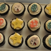 Gamer-Cakes   Toppers are fondant, cake is my chocolate recipe and an orangey buttercream