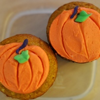 Pumpkin Cupcakes  I wanted to try out some fall flavors so I started with pumpkin :) These are pumpkin cupcakes with cream cheese frosting, fondant stem and...