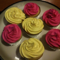 Lemon Cupcakes These are lemon buttermilk cupcakes, with two varieties of icing. The pink is a traditional almond buttercream, and the yellow is a lemon...