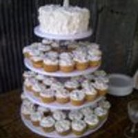 Cupcake Brushstroke Wedding Cake