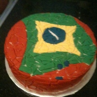 Mosaic Cake Of The Brazilian Flag