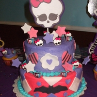 Monster High butter cream with fondant accents