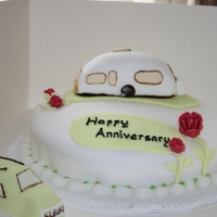 Happy Anniversary   i made this for my mam and dad. they love going on caravan hols. they really liked the cake