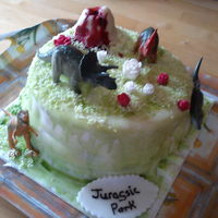 Jurasic Park. This cake was for my little ones school to raffle. They were plnning a trip to dan yr ogof caves.