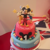 Disney Micky Mouseclubhouse Cake mickey mouse and friends childs birthday cake, hand made modeling chocolate figures