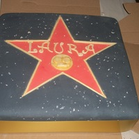 Walk Of Fame Star hollywood walk of fame , welcome home cake