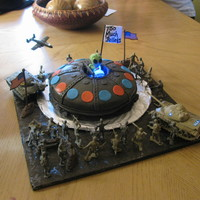 "Ufo Cake This is an inside joke because my dad has always loved UFO things and a while back I took my dad to watch ""Battle L.A"", which he..."