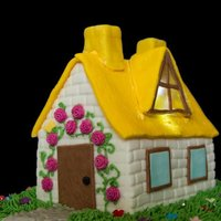 Cottage Cake traditional fruit cake covered with marzipan and fondant