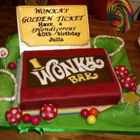 Annie's Cakes *I made this bubblegum flavour Wonka bar cake for my sister's birthday