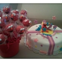 Elmo Cake And Cake Pops