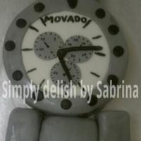 Movado my attempt at making a movado...i ended up being short on cake so im missing a few things lol