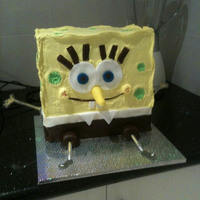 Spongebob for my nephews birthday. (Laminated arms and legs idea from CC member cjd)