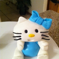 Hello Kitty   Fondant figure for a friends birthday