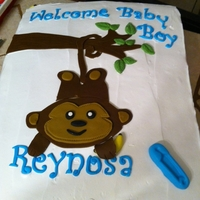 Baby Shower Cake banana cream cake