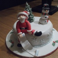 Rich Fruit Cake Laced With Brandy And Covered In Marzipan And Fondant Icing Rich fruit cake laced with brandy and covered in marzipan and fondant icing