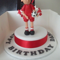Footballer This is for my sons birthday, madeira with buttercream. I always have trouble when using wires and I realised too late that I should have...