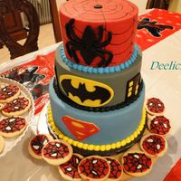 Superhero Cake My son's birthday cake and cookies. I didn't get the chance to take better pics.