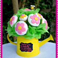 My Very First Cupcake Bouquet Made For My Sons Teacher For The Last Day Of School Vanilla Cupcakes With Vanilla Carmel Buttercream Accent My very first cupcake bouquet made for my son's teacher for the last day of school. Vanilla cupcakes with vanilla carmel buttercream,...