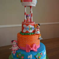 Lalaloopsy Birthday Cake  I made this Lalaloopsy cake for my daughter's 4th birthday party. It is 4 tiers of cake and covered in american buttercream. The hot...
