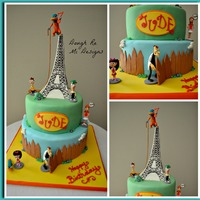 I Made This Phineas And Ferb Themed Cake For My Sons 7Th Birthday Party I Had Always Wanted To Make An Eiffel Tower Cake But Never Thought... I made this Phineas and Ferb themed cake for my son's 7th birthday party. I had always wanted to make an Eiffel Tower cake but never...