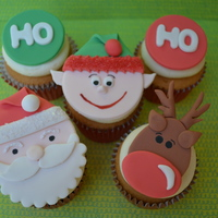 Cupcakes And Christmas Fondant Toppers AppleMark