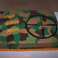 Camo Birthday Cake   This was my first attempt at camo. Pleased with how it turned out!