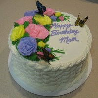 Lemon Poppy Seed Cake Lemon Poppy Seed, lemon filling, buttercream floral, edible butterflies, and cream cheese icing!!