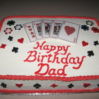 Grandpa's Play Card Birthday Cake Grandpa's Birthday Cake!Lemon Poppy Seed, lemon filling, made with Luck's edible playing cards, fondant, and cream cheese icing....
