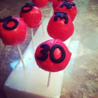 30Th Birthday Pink And Black Cake Pops Pink and Black 30th birthday celebration