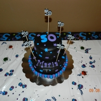 "The Party Continues....   50th Birthday cake to match the theme ""the party continues"""