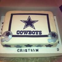 Cowboys   Cristian's 9th Birthday cake