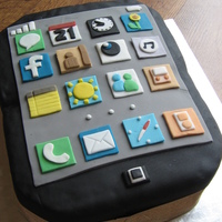 I-Phone Birthday Cake I created this I-Phone cake for my brothers birthday - as a man who has everything - it was an appropriate choice!