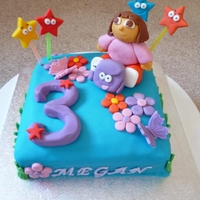 Dora The Explorer - 3Rd Birthday Cake I made this cake for my daughters 3rd birthday - she loves Dora!