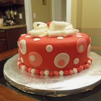 Red And Pink Polka Dot Cake This was my final class cake for the Wilton Gum Paste/Fondant course and my first time covering and decorating a cake in fondant. It's...