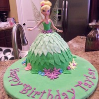 Tinkerbell Birthday Cake I made this cake for my niece's 4th birthday. I got this idea from MJoycake...I just changed a couple of little things. I used the...