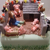 21St Birthday Pigsty Cake The Birthday girl has just studied Animal Management in college.She owns her own pig, piglets, prize winning chickens and a border collie!...