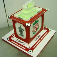 Liverpool Football Club Cake   All royal icing. A celebration of all things LFC!