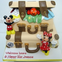 Disney Nemo Mickey And Minnie Travel Cake! Birthday girl has been working away in America for a year and came home yesterday, whilst away she was 21 years old, worked in Disney and...
