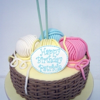 Basket Of Wool Birthday Cake   Basket of wool birthday cake