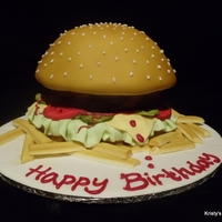 Cheeseburger Cake Cheeseburger Cake with fries - everything is edible