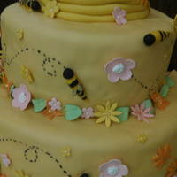 """bride To Bee'"" Cake For My God Daughter's Bridal Shower"