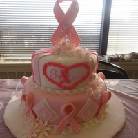 Breast Cancer Cake This is a cake I donated to help raise funds for breast cancer research in the name of one of my colleagues who just found out she has...