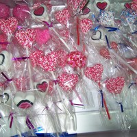 Heart Cake Pops!   I did these for my middle school age twins last Valentines day to hand out to their friends and teachers!