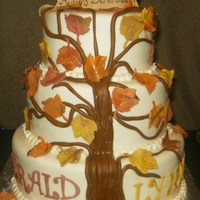 Birthday Cake For Wifehusband That Share The Same Birthdayfall Themed birthday cake for wife/husband that share the same birthday..fall themed