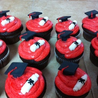 Grad Cupcakes Cupcakes I made for my little brother and his friends for graduation